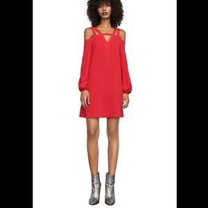 NWT BCBGMaxAzria red cold shoulder minidress